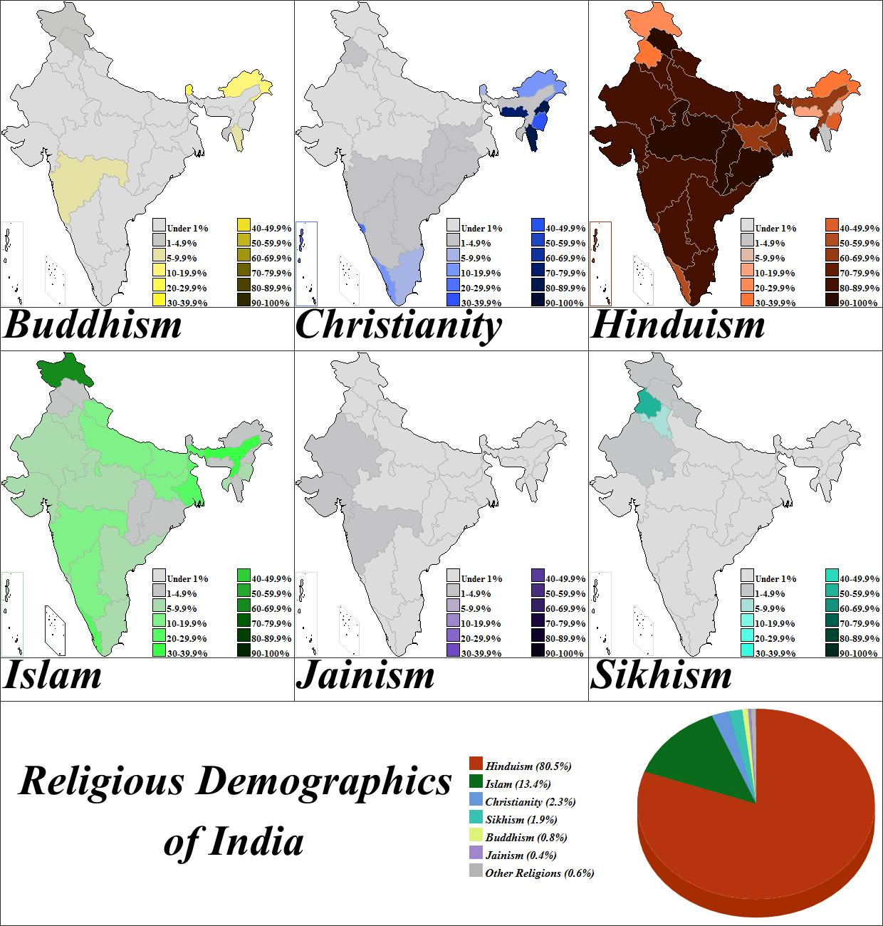 Carte Asie Religion.L Inde La Religion La Carte Carte De La Religion De L