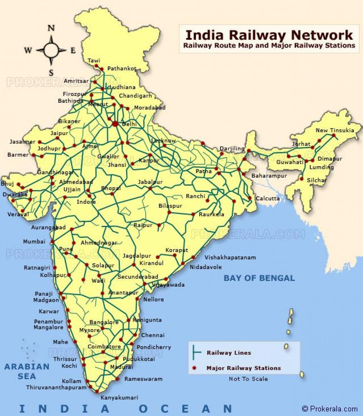Carte De Linde Mysore.Carte De L Inde Railway Chemin De Fer De Carte De L Inde Asie Du