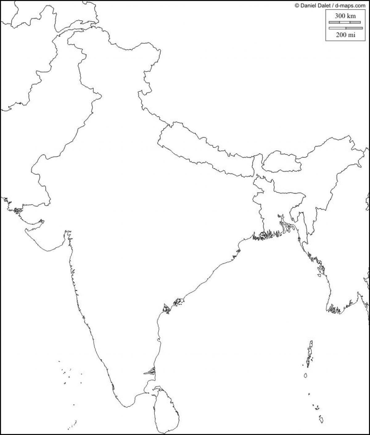 Carte Inde Vierge.Carte Physique De L Inde Vide Inde Carte Physique Vierge
