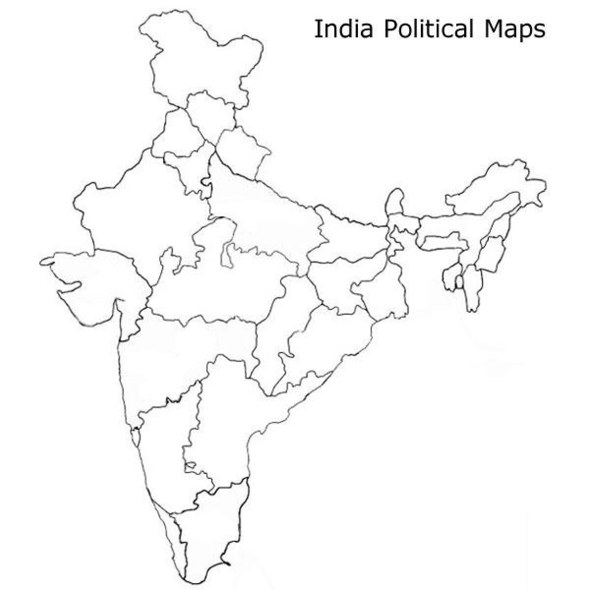 Carte Inde Vierge.Carte Politique De L Inde Vierge Imprimable Blanc Carte