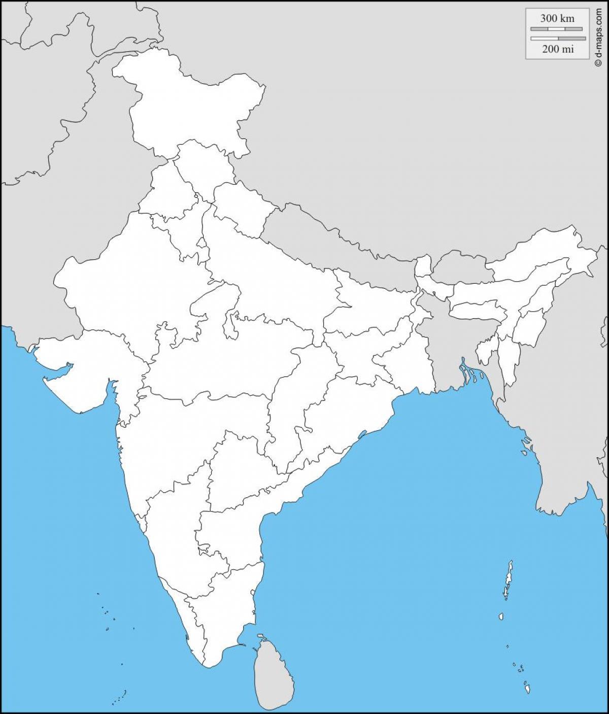Carte Asie Vierge.Carte Vierge De L Inde Physique Physique De La Carte Vierge De L