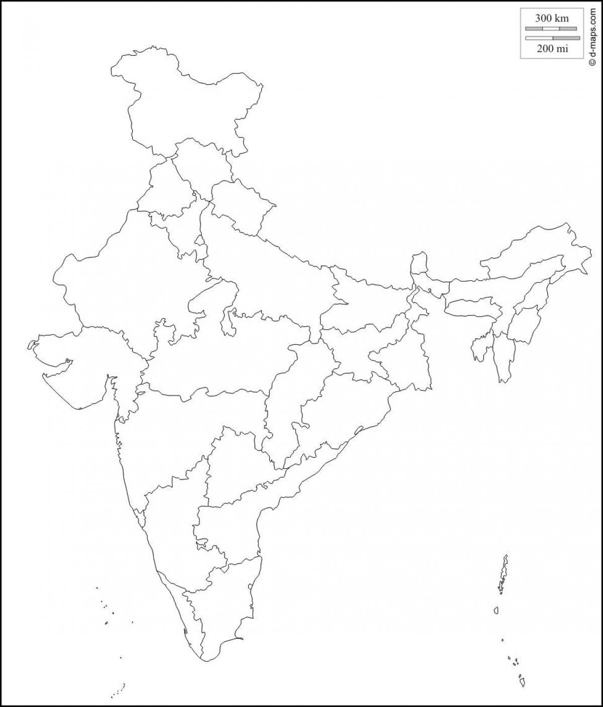 Carte Vierge De Linde Carte De Linde Vide Asie Du Sud
