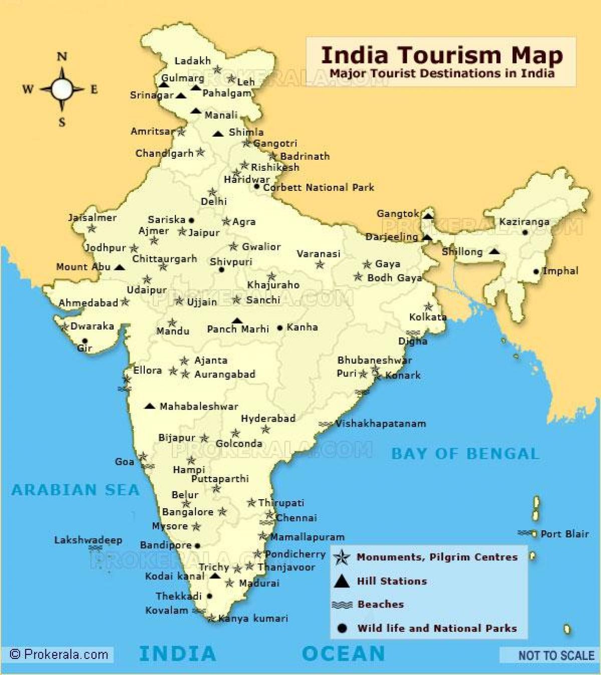 Carte De Linde Mysore.Le Nord De L Inde Avec Carte Touristique Des Lieux Carte Du Nord