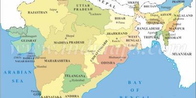 Carte Asie Inde.Carte De L Inde Cartes De L Inde Asie Du Sud Asie